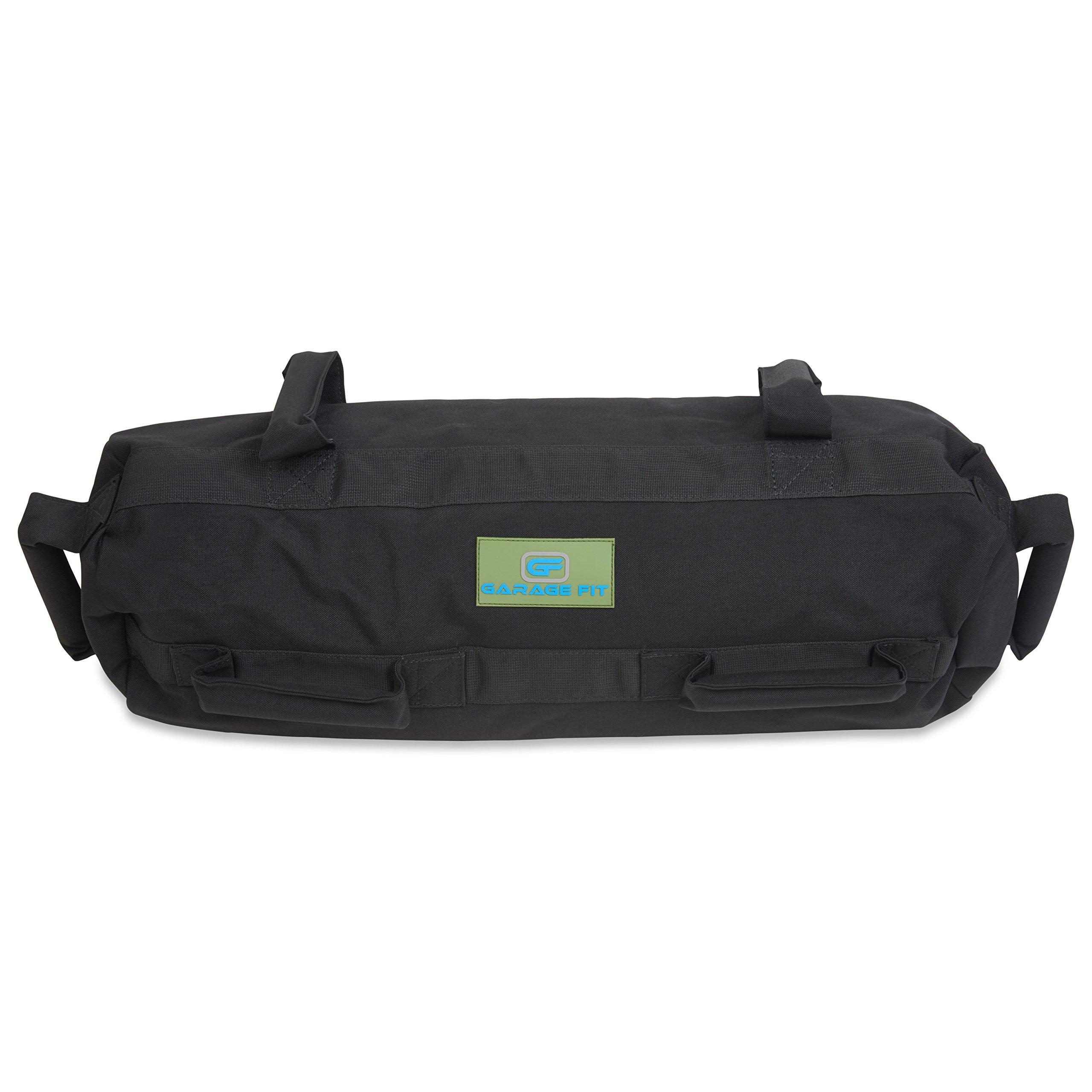 Garage Fit Heavy Duty Workout Sandbags for Fitness, Exercise Sandbags, Military Sandbags, Weighted Bags, Weighted Sandbag, Fitness Sandbags, Training Sandbags (Black Rubber Core Handle, 20-60 lbs)
