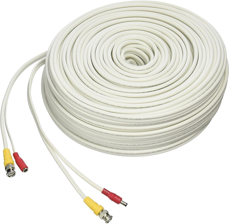 White 250 LOREX CB250URB Cb250urb Video Rg59 Coaxial Bnc//Power Cable