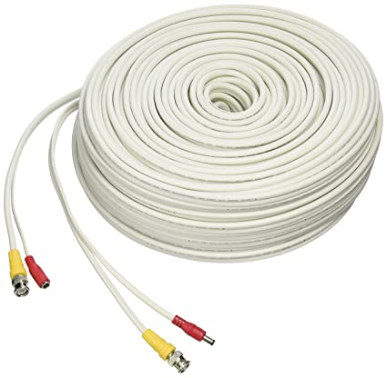 LOREX CB250URB Cb250urb Video Rg59 Coaxial Bnc/Power Cable, 250 (White)