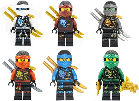 LEGO Ninjago: Ninjas set of 6 - Lloyd, Nya, Zane, Cole, Jay, Kai Skybound Minifigures