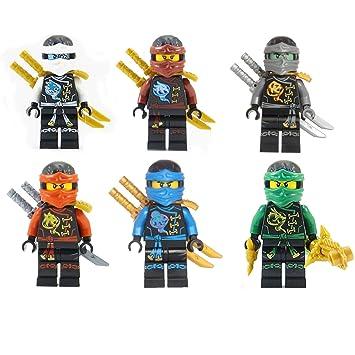 amazon com lego ninjago ninja s set of 6 lloyd nya zane cole