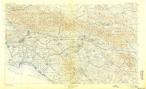 Amazon.com : YellowMaps Southern California Sheet No 1 CA topo map ...
