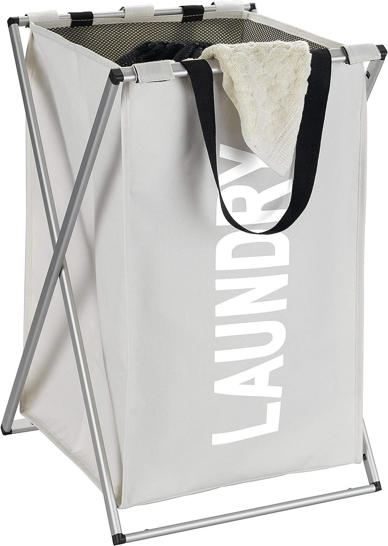 38 x 35 x 57 cm WENKO collector Uno Beige-laundry basket Polyester