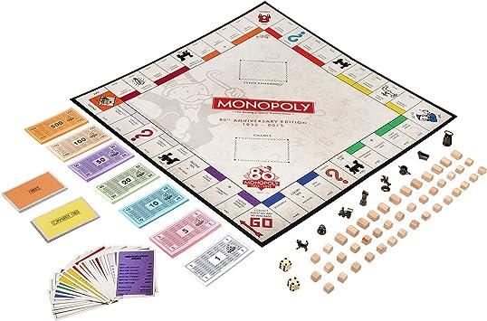 Hasbro Gaming - Monopoly 80 Aniversario, Juego de Mesa (versión en inglés): Amazon.es: Juguetes y juegos