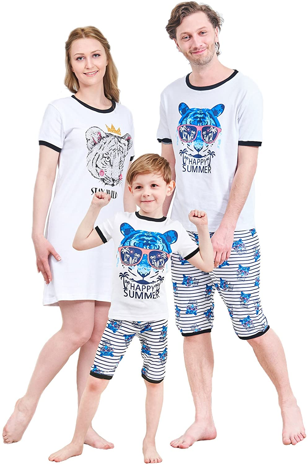 cd9bd5afa Amazon.com  Matching Family Pajamas Christmas Tree Sleepwear Cotton ...