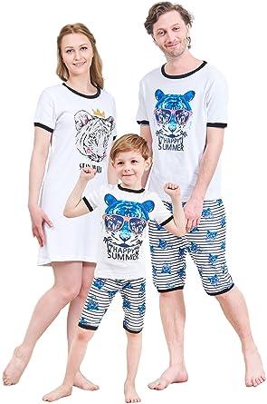 4edccb2ce7 IF Family Boys Pajamas 100% Cotton Kids Sleepwear Pjs Toddler Shorts Set 4t