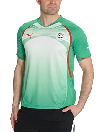 Puma Camiseta de fútbol para hombre (réplica de la equipación de la selección de Argelia) verde verde y blanco Talla:medium: Amazon.es: Ropa y accesorios
