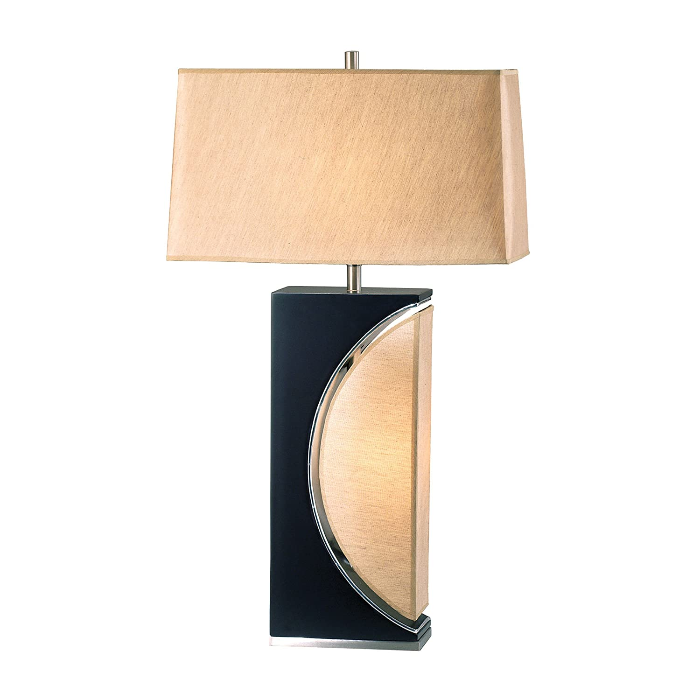 Nova Lighting Half Moon Table Lamp, Dark Brown/Silver/Etruscan Gold      Amazon.com
