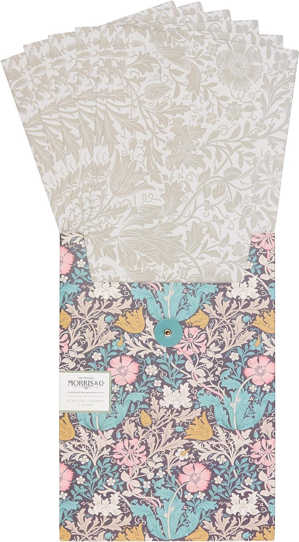 Bolsas de arcilla rosa y madreselva perfumadas para cajones Morris /& Co paquete de 5 hojas
