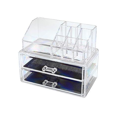 P & J cosméticos Organizador acrílico 1063/1065 | Caja para Maquillaje y Joyas |