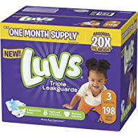 198-Count Luvs Ultra Leakguards Disposable Baby Diapers (Size 3)