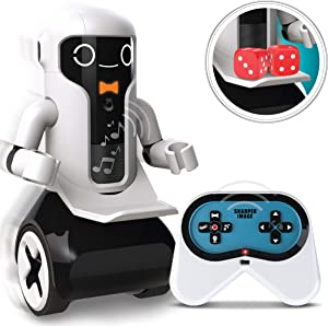 SHARPER IMAGE Maximilian The RC Butler Bot, Interactive Remote Control Robot with Speech, Singing, Audio Recording, Motion Detection, Color-Coded Emotional Responses