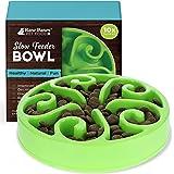 Raw Paws Pet BPA-Free Slow Feeder Dog Bowl - Dog Bowl Slow Feeder Large Breed, Medium Sized Dog & Puppies - Canine Slow Feede