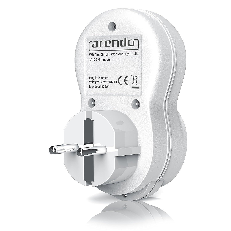 Arendo Enchufe Con Regulador De Luz Dimmer Interruptor Con  ~ Interruptor Regulador De Intensidad Para Lampara De Pie