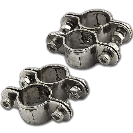 OPIOL QUALITY - Abrazadera de tubo de acero inoxidable (25 ...