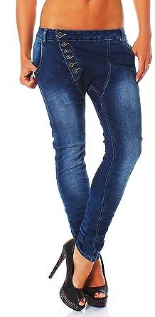 Moderna Mujer Boyfriend Jeans con Moderna Botones, Baggy ...