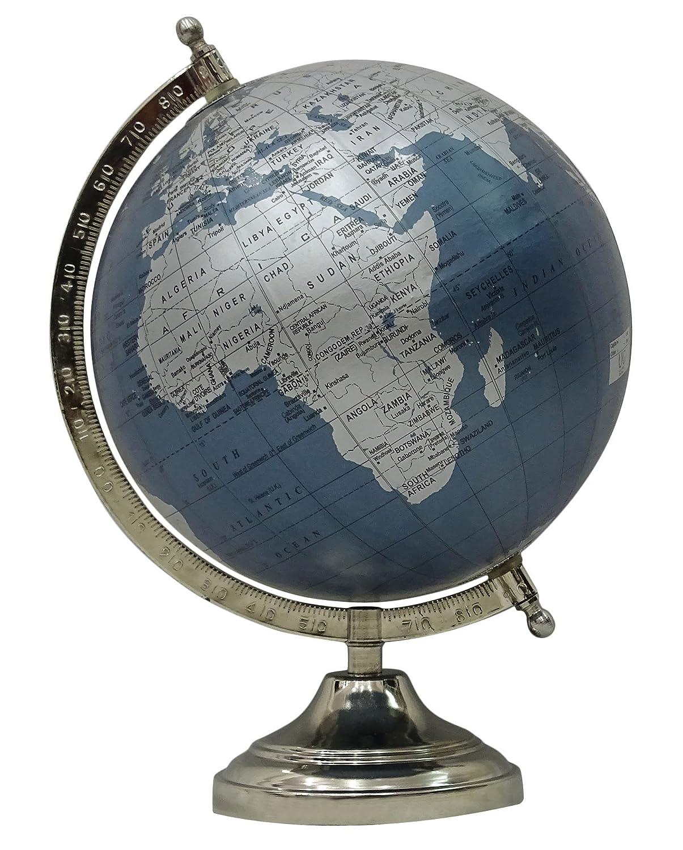 Decorative Big Ocean Geography Earth World Rotating Globe Office Table Decor Uniworld