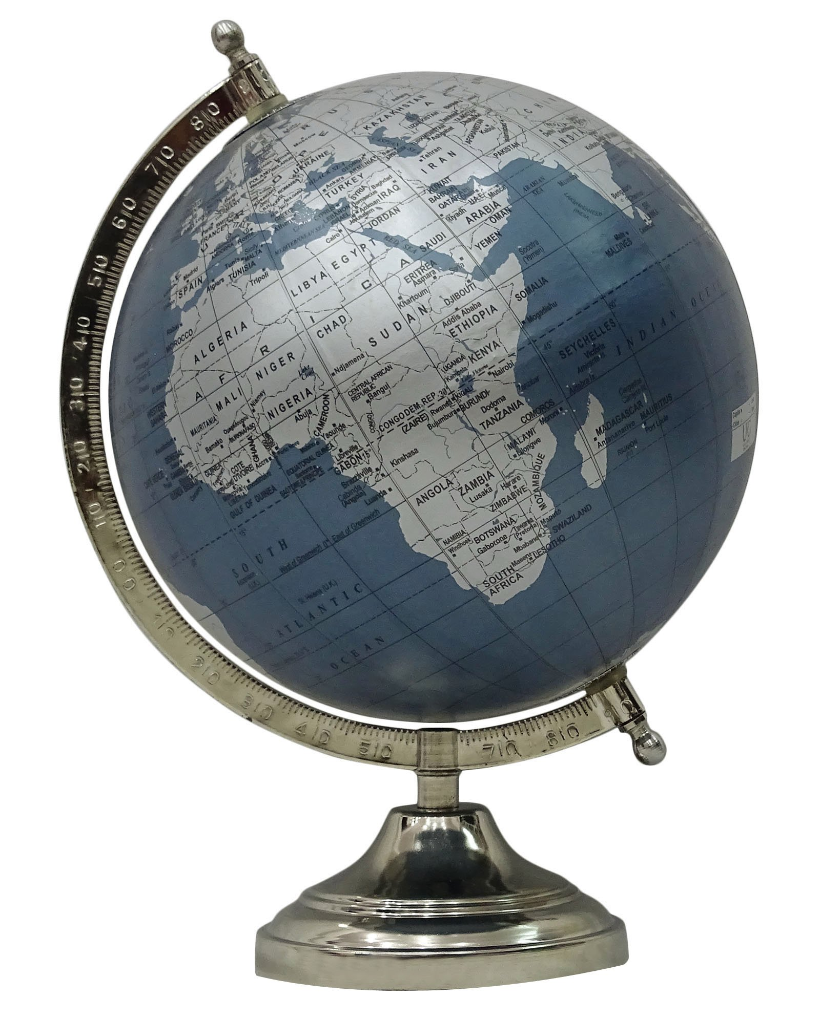 Decorative Big Ocean Geography Earth World Rotating Globe Office Table Decor