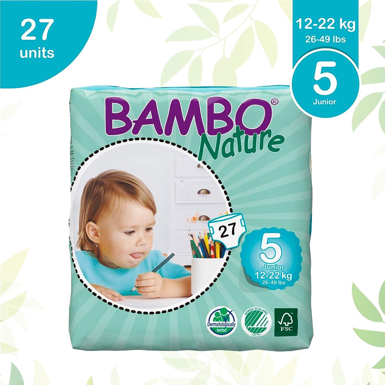 / Abena Bambo Nature Taille Junior 5/ /Couches ECO/ 26/–49lb//12/–22/kg /27/pi/èces par lot