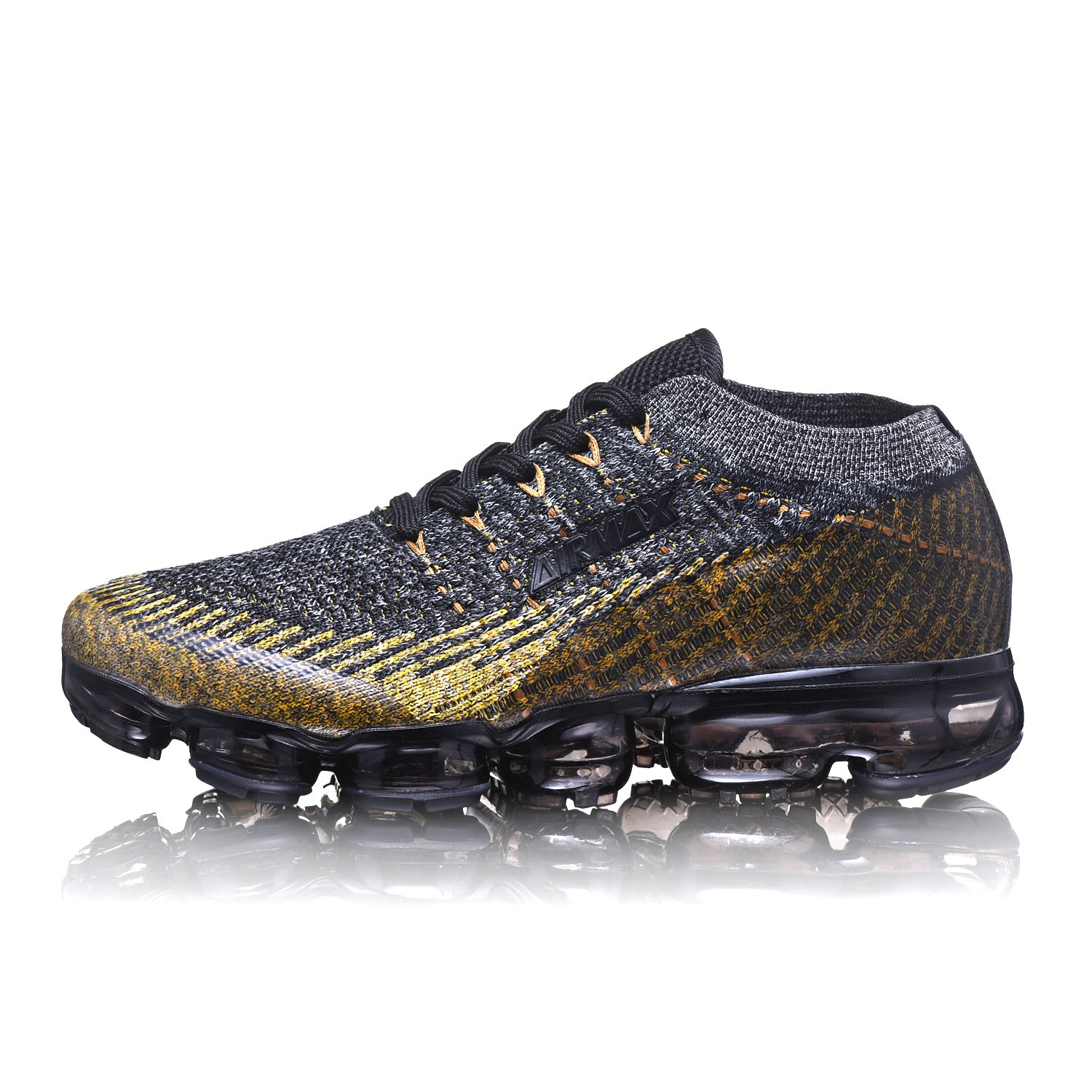 2018 Air Cushion Sports Running Casual Walking Sneakers Shoes for Men and Women B07F1QHKS6 us_4/cm_220/eur_36|Black/Gold