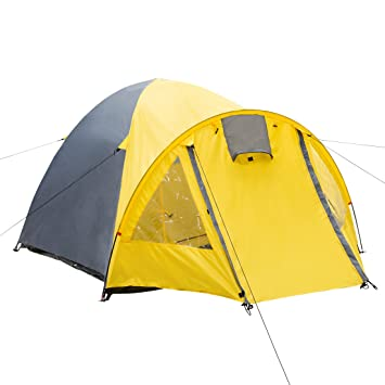 Ultrasport Waterproof Unisex Outdoor Dome Tent available in Yellow/Grey - 3 People  sc 1 st  Amazon UK & Ultrasport Waterproof Unisex Outdoor Dome Tent available in Yellow ...