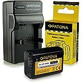 Caricabatteria + Batteria NP-FW50 per Sony NEX-3 | NEX-3A | NEX-3D | NEX-3K | NEX-5 | NEX-5A | NEX-5D | NEX-5H | NEX-5K | NEX-6 | NEX-7 | Sony Alpha: 33 (SLT-A33) | 37 (SLT-A37) | 55 (SLT-A55)