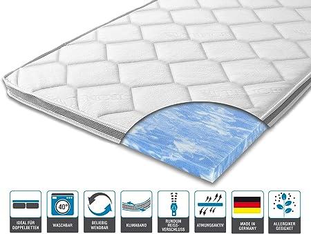 Amazon De Arbd Matratzenauflage Topper Modelle Mit 7 12cm Gesamthohe Waschbarer Bezug Mit