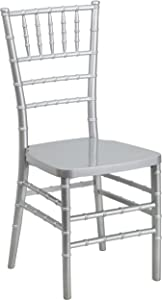 Flash Furniture HERCULES PREMIUM Series Silver Resin Stacking Chiavari Chair
