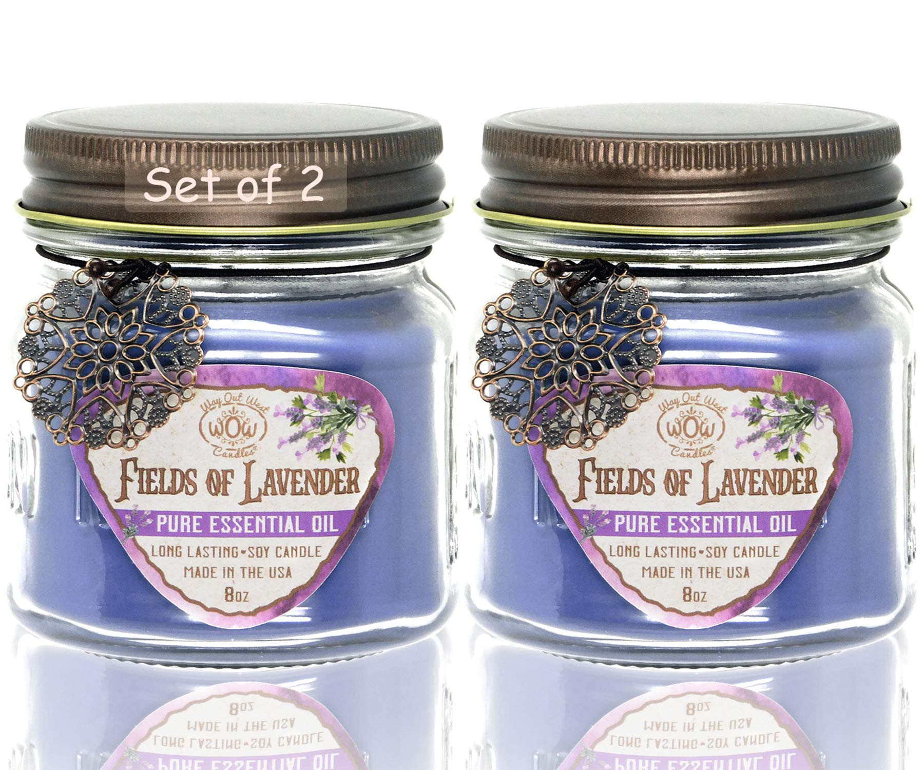9 Oz Highly Scented /& Long Lasting NO LID Hand Poured in The USA Lulu Candles Lavender Musk Luxury Scented Soy Candle