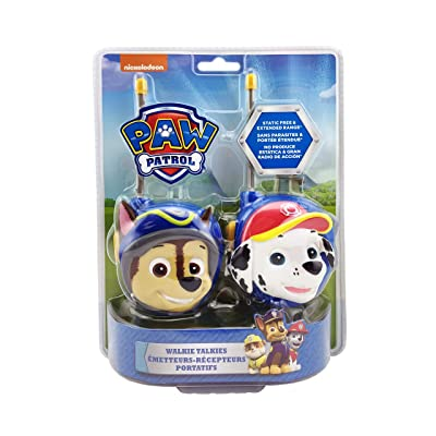 Paw Patrol New Walkie Talkies - Set of 2 Kids Walkie Talkies Chase and Marshall – Excellent Walkie Talkies for Toddlers: Toys & Games