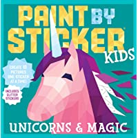 Image for Paint by Sticker Kids: Unicorns & Magic: Create 10 Pictures One Sticker at a Time! Includes Glitter Stickers
