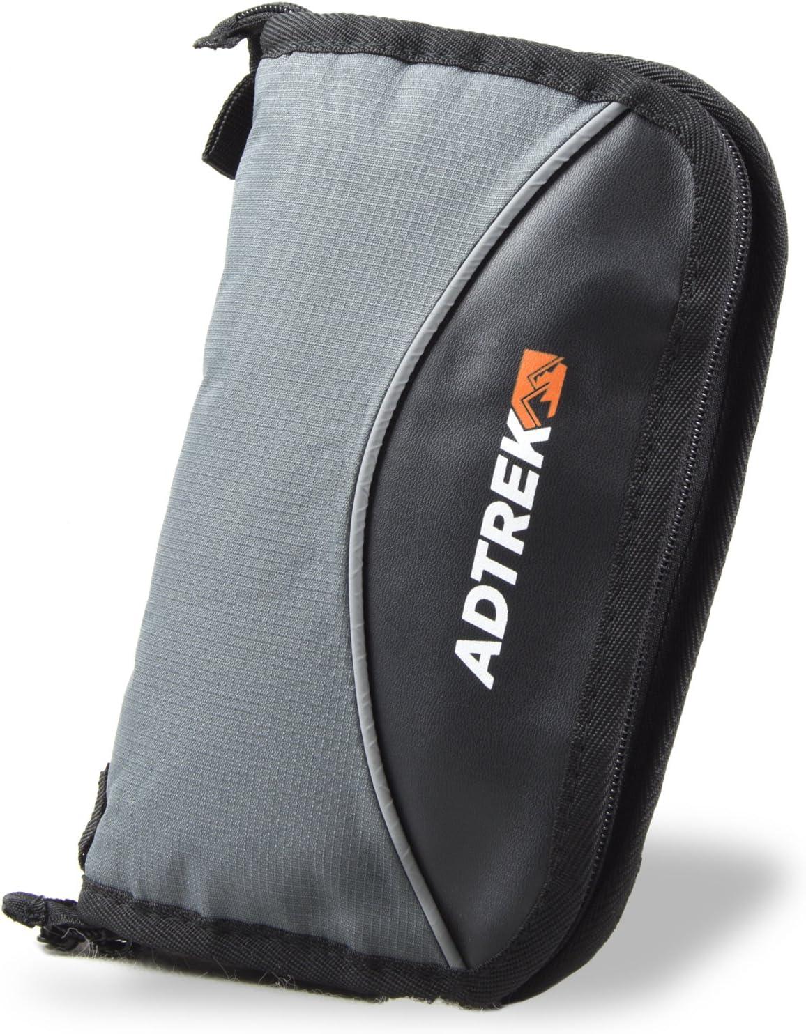 Adtrek Reisebrieftasche mit Rei/ßverschluss Organizer f/ür P/ässe//Dokumente