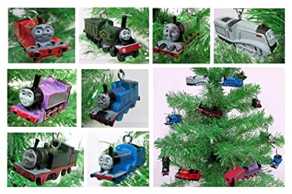 Thomas The Train Christmas Set.Amazon Com Christmas Ornament Thomas The Train 8 Piece