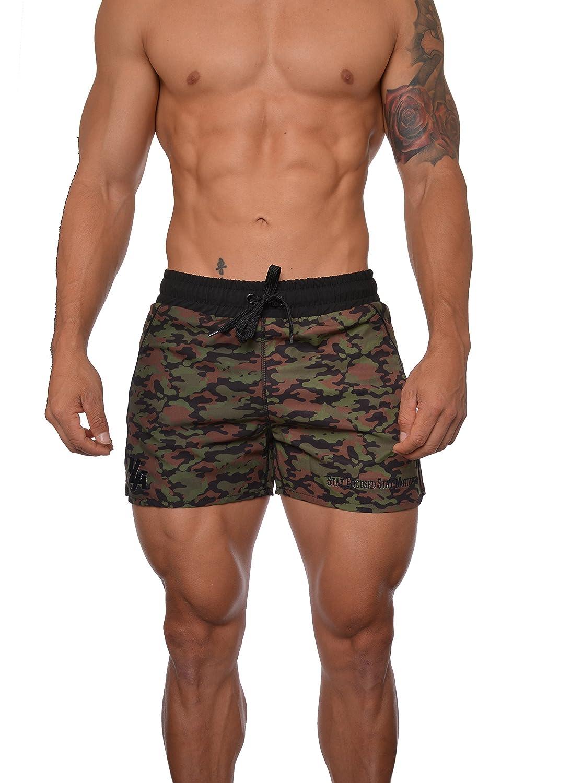 YoungLA Mens Bodybuilding Gym Running Shorts