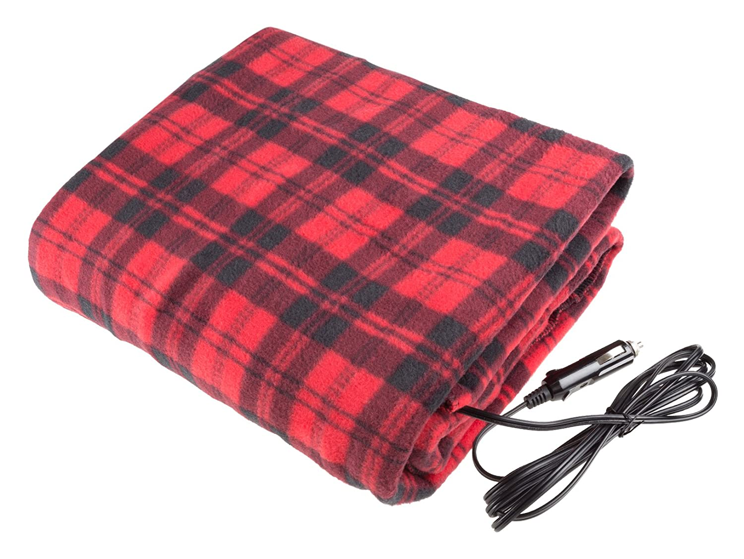 Stalwart Electric Car Blanket-Heated 12 Volt Fleece Travel Throw Image