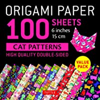 """Origami Paper 100 Sheets Cat Patterns 6"""" (15 CM): Tuttle Origami Paper: High-Quality Double-Sided Origami Sheets Printed…"""