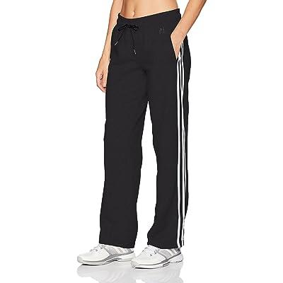 adidas Women's Essentials Cotton Fleece 3 Stripe Open Hem Pants