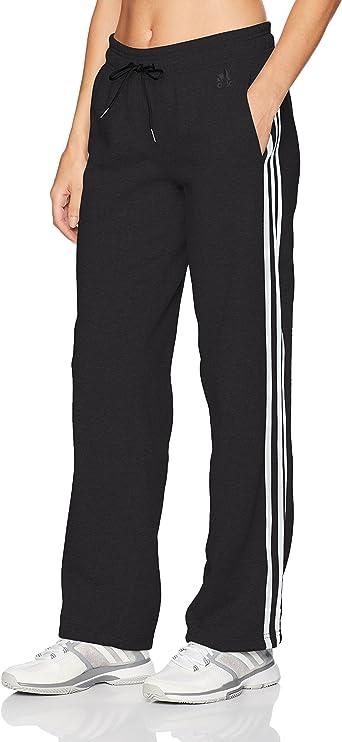 Adidas Essentials - Pantalones de algodón para mujer con 3 rayas y dobladillo abierto - F1754WFL501, XS, Negro/Blanco: ADIDAS: Amazon.es: Deportes y aire libre