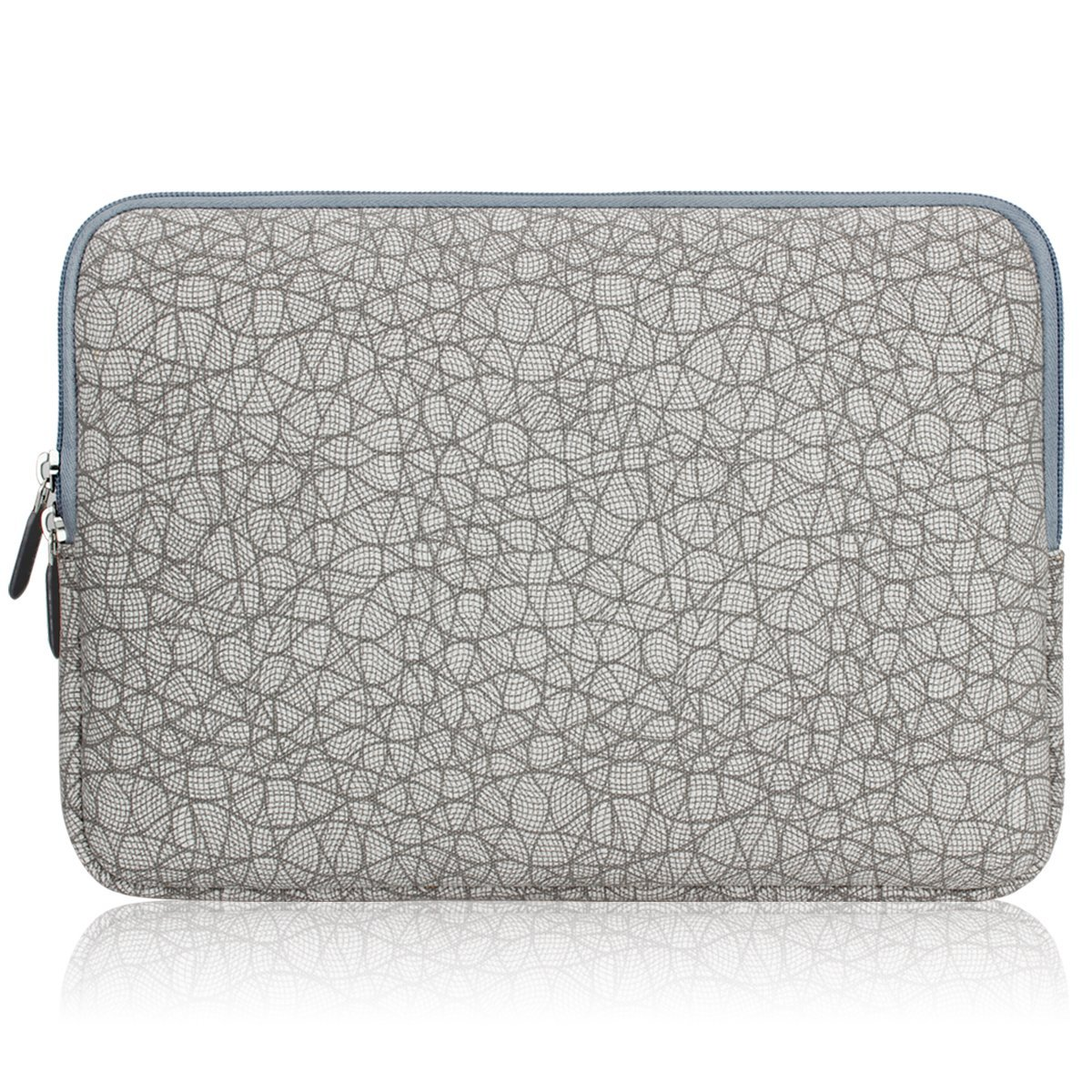 Leaf Vein Grey Arvok 11 11.6 12 Inch Canvas Fabric Laptop Sleeve With Extra Bag//Water-resistant Notebook Computer Case//Ultrabook Tablet Briefcase Carrying Bag For MacBook Air//Pro//Dell//Lenovo//Samsung