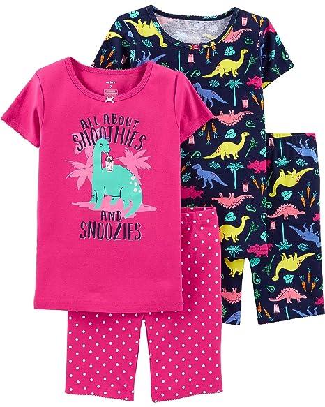 Amazon.com: Carters - Pijamas de algodón para niña (4 ...