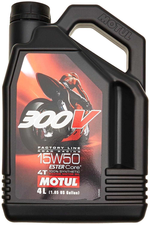 Amazon.fr   Motul 104129 Huile Moto 15 W50 4T Syn 300 V FL Road Racing 4L 3 797d0bf1c2fd