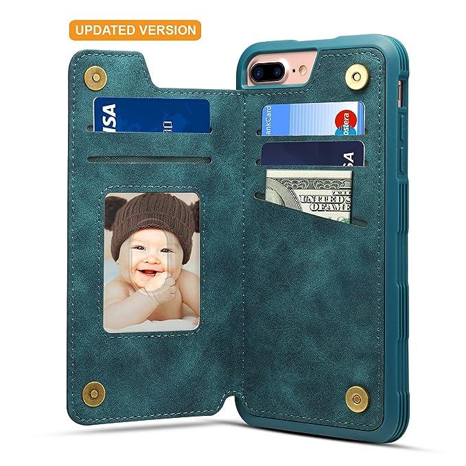 Amazon.com: iPhone 8 Plus titular de la tarjeta caso iPhone ...