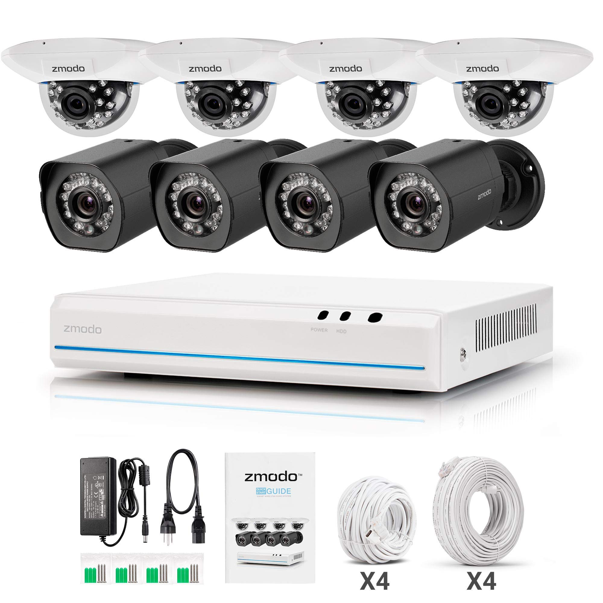 Zmodo 8 Channel NVR 720p Indoor & Outdoor Home Security Surveillance Camera System by Zmodo