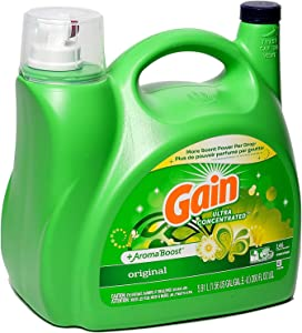 GainUltra Concentrated Liquid Laundry Detergent | Original Scent + Aroma Boost – for Regular and High Efficiency (HE) Machines – 5.91 Liters (200 Ounces) – Large Container, Enough for 146 Loads