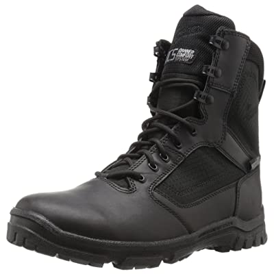 """Danner Men's Lookout Side-Zip 8""""Black Military and Tactical Boot: Shoes"""