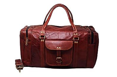 Amazon.com: Mens piel Duffle Bag Carry On pequeñas Fin de ...