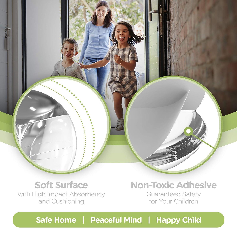 SKYLA HOMES Furniture /& Sharp Corners Baby Proofing 12-Pack Clear Corner Protectors High Resistant Adhesive Gel Best Baby Proof Corner Guards Stop Child Head Injuries Tables