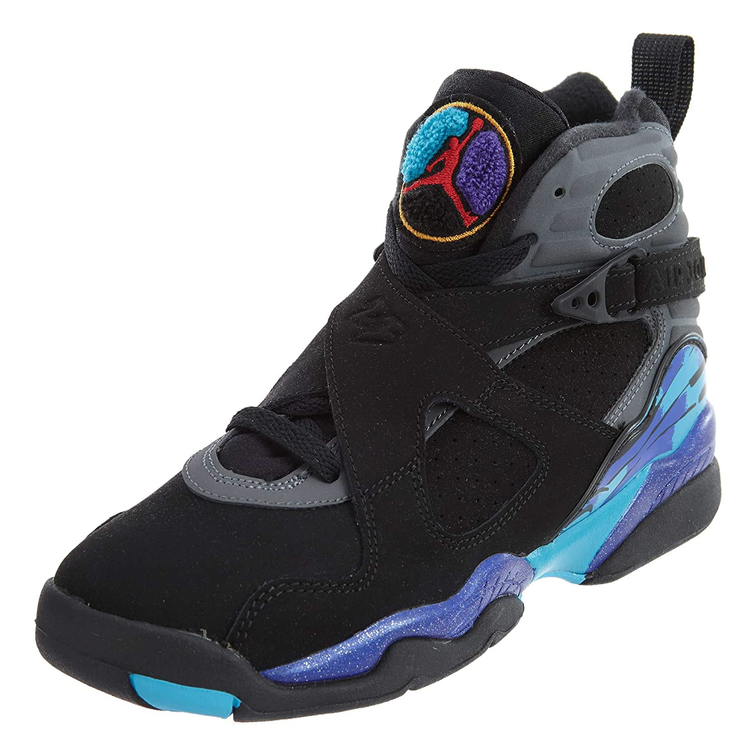 brand new 4e129 e12d6 Jordan Nike Air 8 Retro Aqua (GS) Boys' Basketball Shoes 305368-025