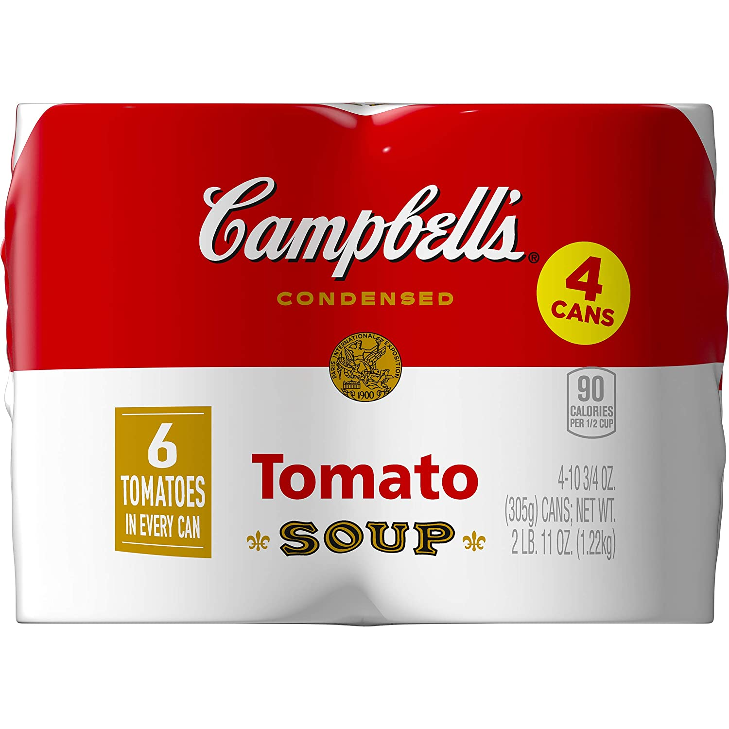 Campbell's Condensed Soup, Tomato, 4-pack, 43 oz