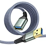 USB Extension Cable 10FT Type A Male to Female USB 3.0 Extension Cord AINOPE High Data Transfer Compatible with Webcam ,GameP